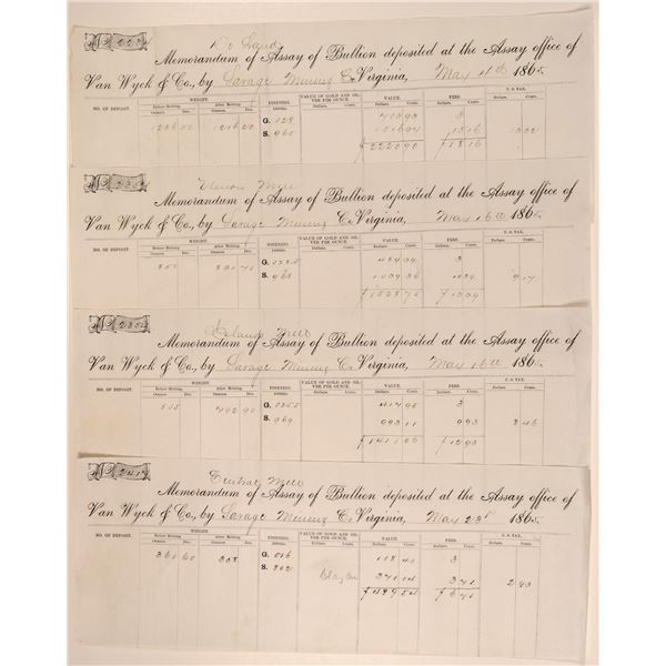Four Different Bullion Assays for the Savage Mill - with a story to tell  [104539]