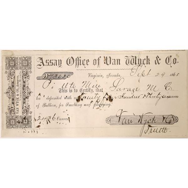 Van Wyck  Bullion Deposit from Piute Mine  [131765]