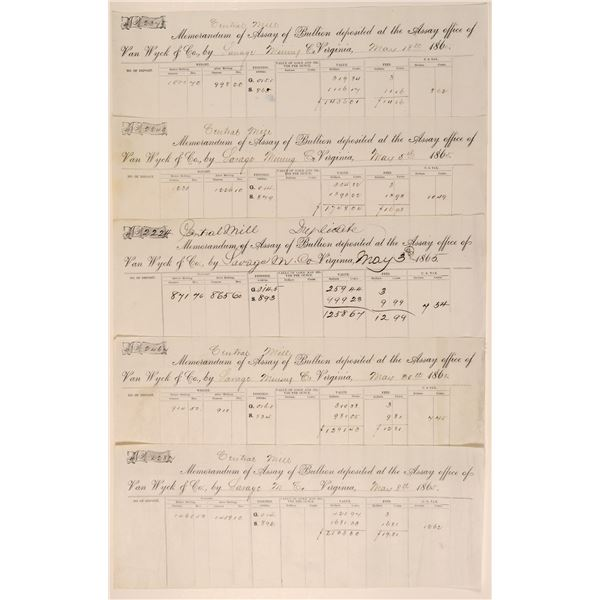 Savage Mining Company Central Mill Assay Results by Van Wyck (5)  [104538]