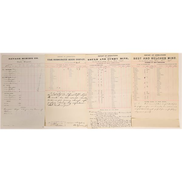 Reports of Operations (4) Misc. Comstock Companies  [132410]
