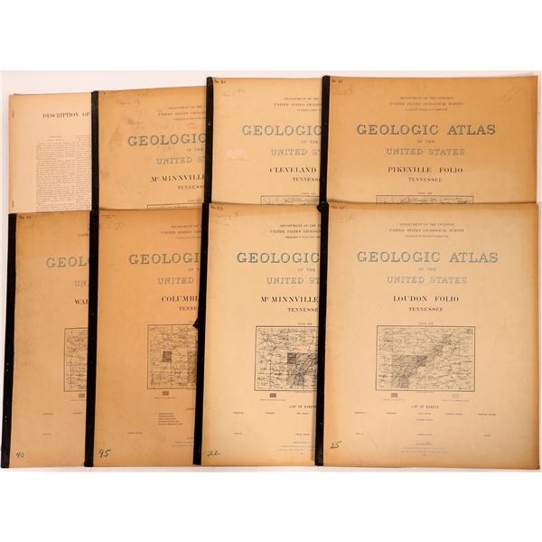 Tennessee USGS Geologic Folios (8)  [112310]