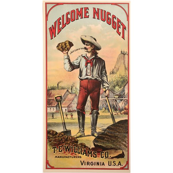 Welcome Nugget TC William Tobacco Label  [134016]
