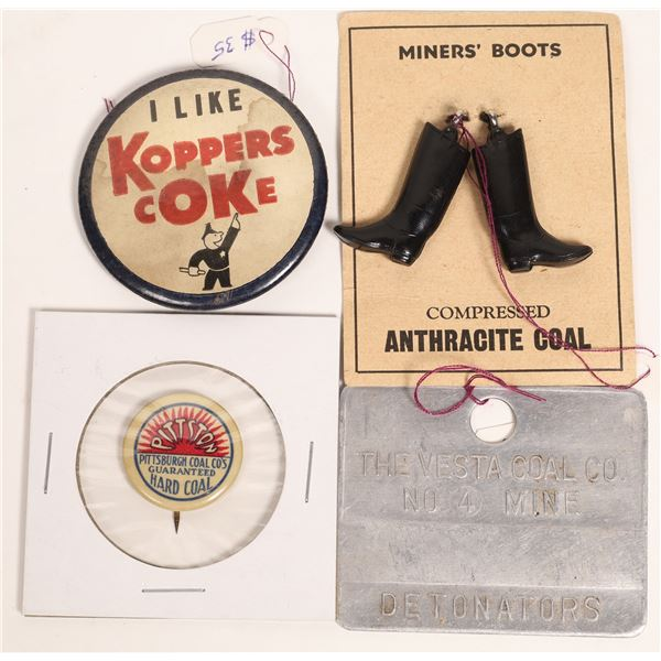 Assorted Coal Mining Collectibles  [134011]
