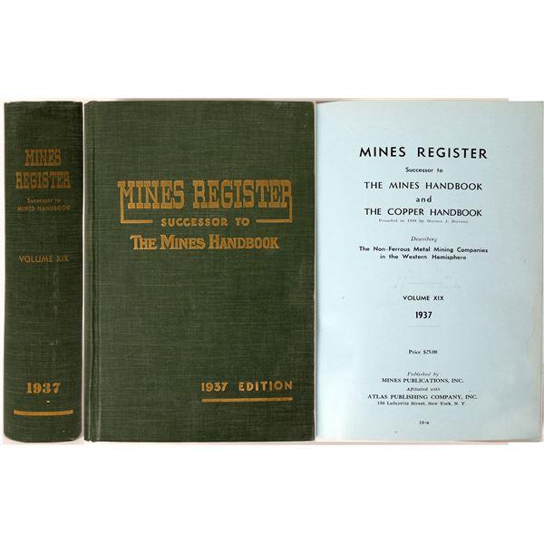 Mines Register 1937  [121703]