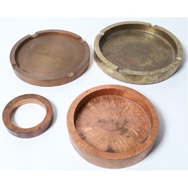 Copper and Brass Ashtrays from Kennecott Days  [132881]