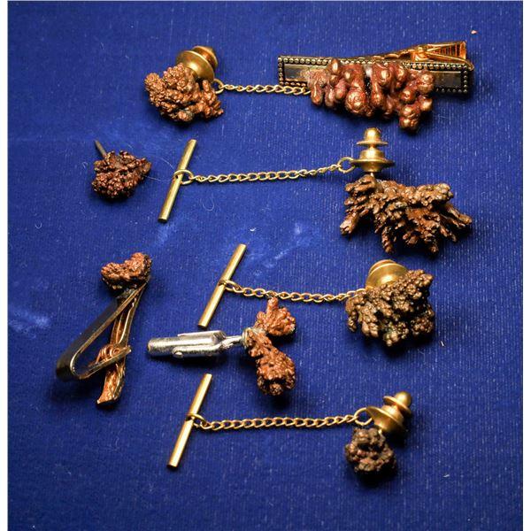 Copper Dendrite Jewelry - 8 pcs  [131922]