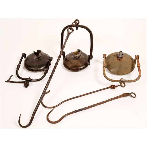 Cast Iron Oil Lamps for Underground Miners - 3  [132434]