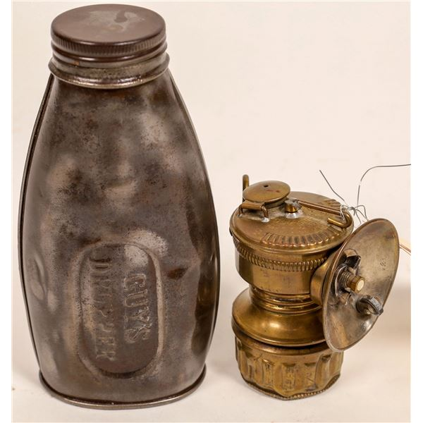 Guy's Dropper Carbide Lamp and Flask  [132379]