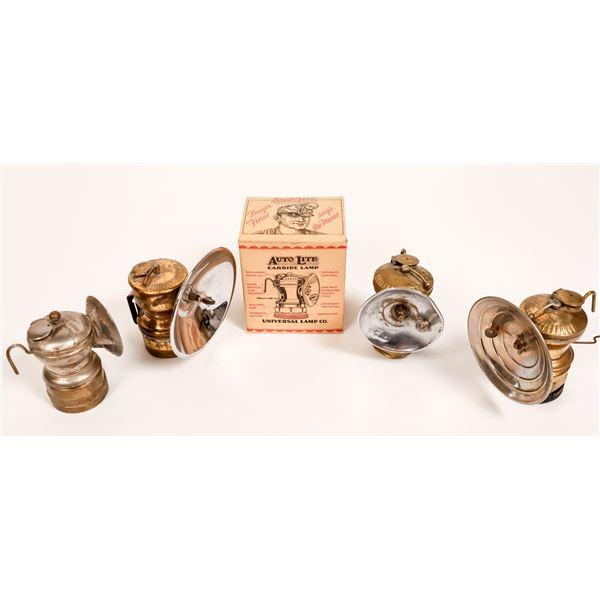 Miner's Carbide Lamps - 3 AutoLite, 1 Dewar, 1 SafeSport  [132424]