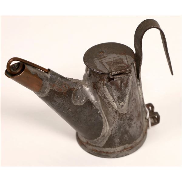 Unusual Husson Oil Wick Mining Lamp  [134014]