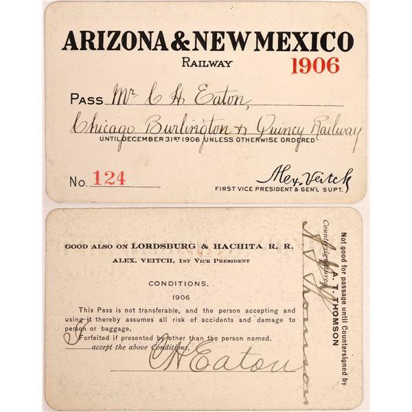 Arizona & New Mexico Railway Annual Pass  [134098]