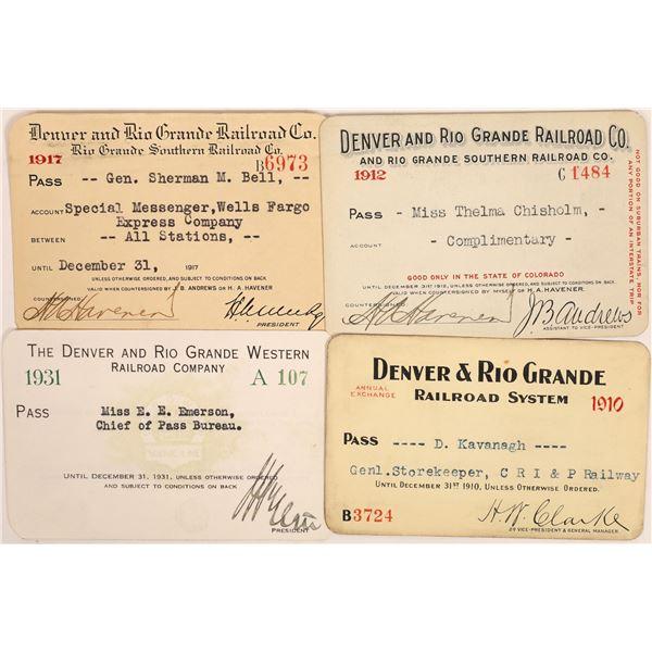 Denver & Rio Grande Railroad Passes  [134086]