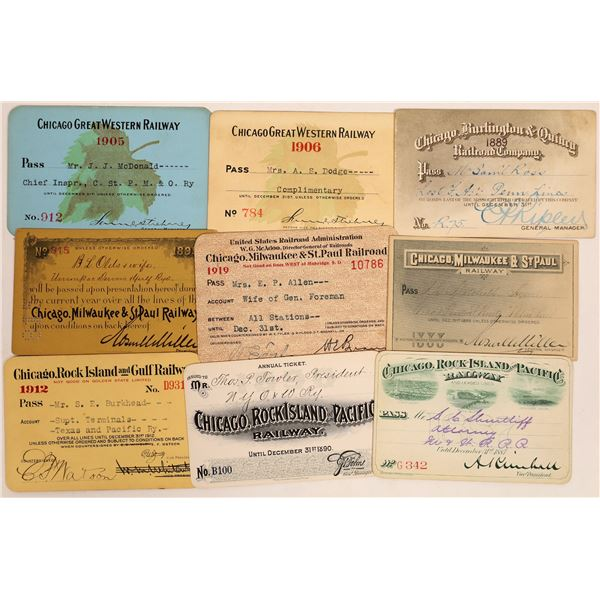 Chicago Railroad Pass Collection  [134093]