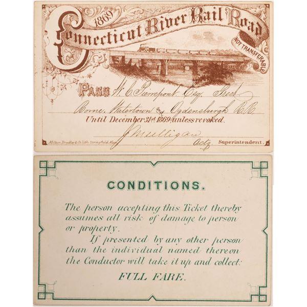 Connecticut River Rail Road Annual Pass  [134088]