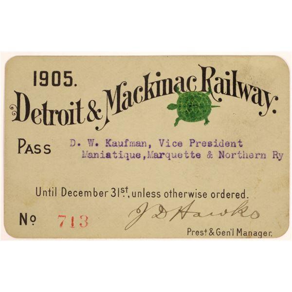 Detroit & Mackinac Railway Pass  [134082]