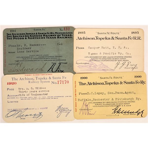 Atchison, Topeka & Santa Fe Railroad Pass Group  [134102]