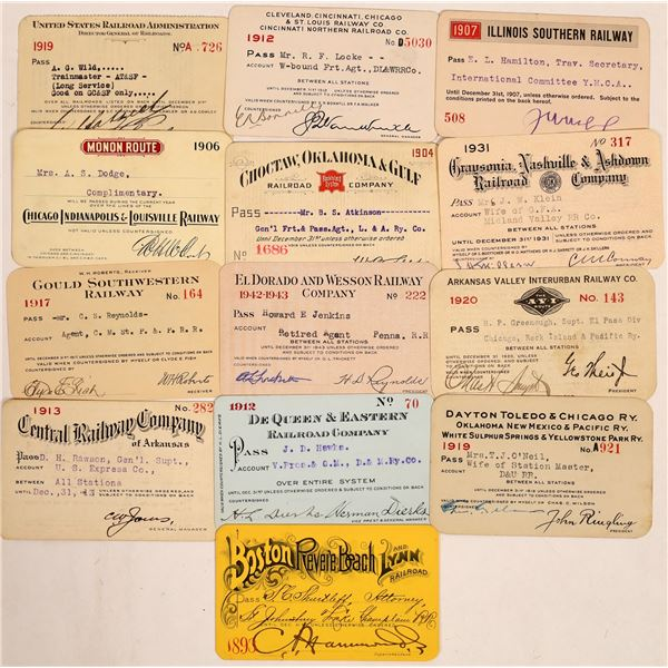 Miscellaneous US Railroad Pass Collection  [134105]