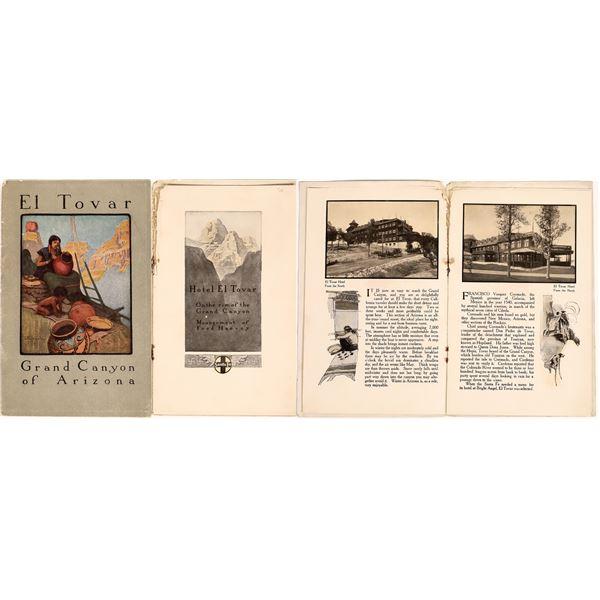 Very Rare Fred Harvey Grand Canyon Santa Fe RR Booklet  [131988]