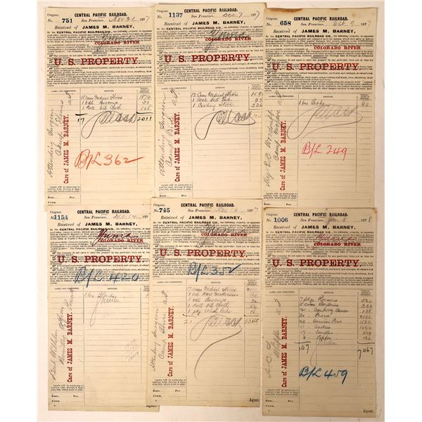 Central Pacific Bills of Lading for Arizona (6)  [131773]