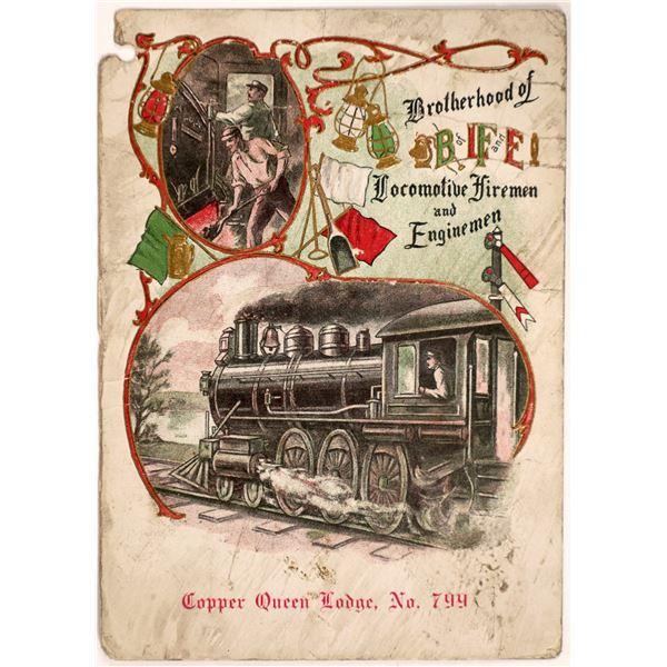 Brotherhood of Locomotive Firemen and Engineers, Copper Queen Lodge  [131837]