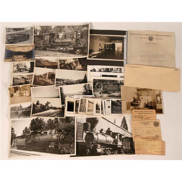 Nevada County Narrow Gauge RR Photos & Ephemera  [122852]