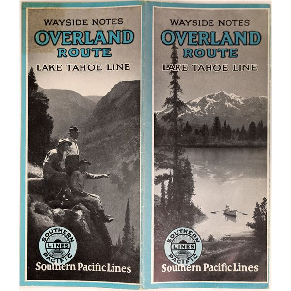 Lake Tahoe Line (railroad), Overland Route Pamphlet  [131838]