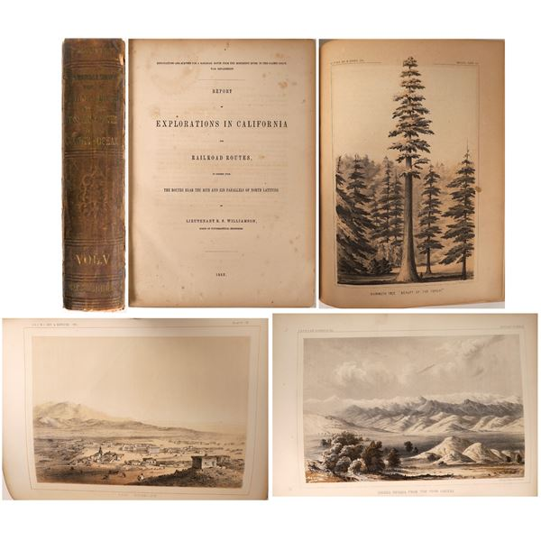 Explorations in California of Railroad Routes by Lt. Williamson, 1853  [130133]