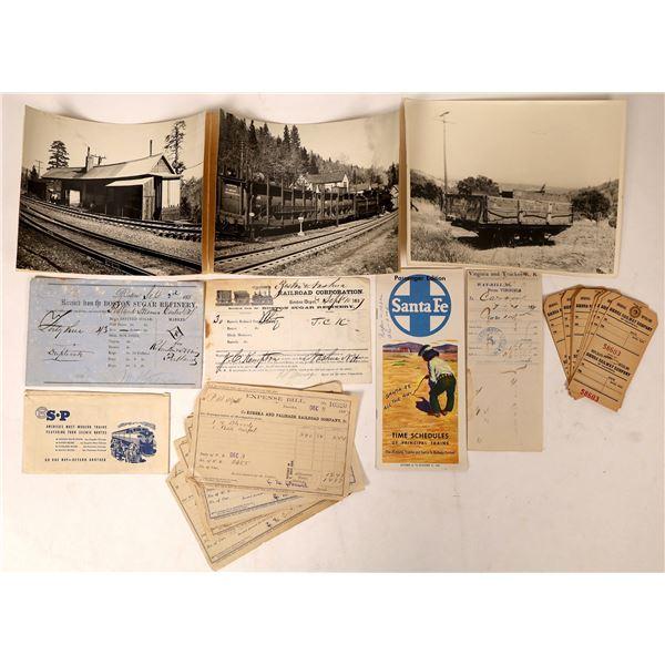 Railroad Photos and Ephemera [129905]