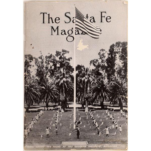 Railroad Periodical - The Santa Fe Magazine July 1934  [126994]