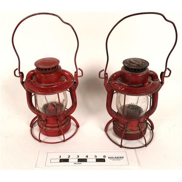 New York Embossed Railroad Lanterns (2)  [125237]