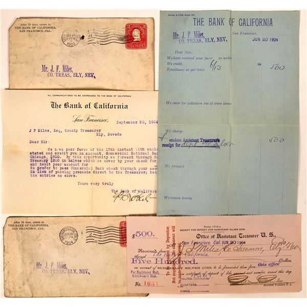 Ely Treasurer's Requests of the Bank of California for $500 in Half Dollars  [130034]