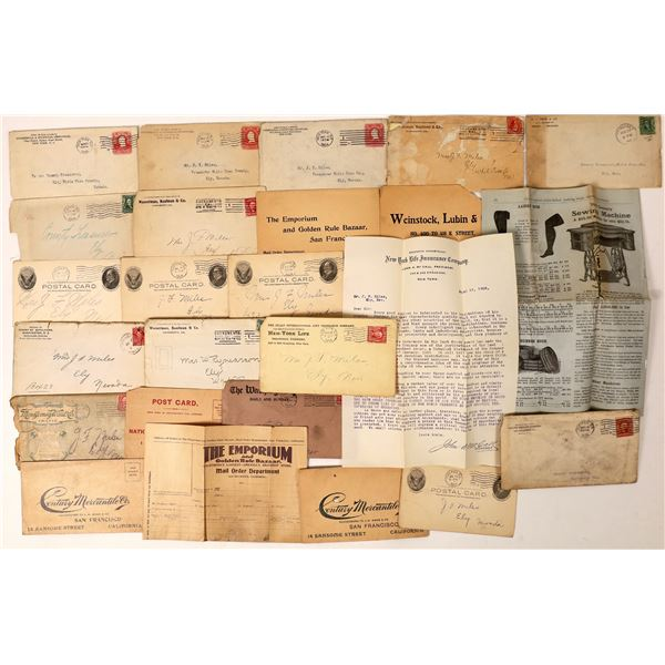 Collection of Postal History addressed to the White Pine Treasurer, 1904-1906  [130021]