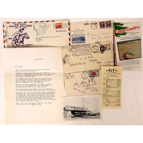 Nevada First Flight and Aeronautical Covers  [130032]