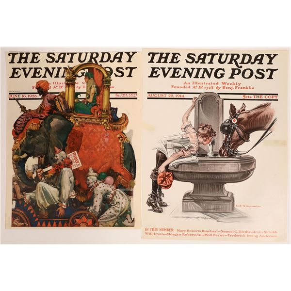Saturday Evening Post Covers (2) 1914 & 1928  [126998]