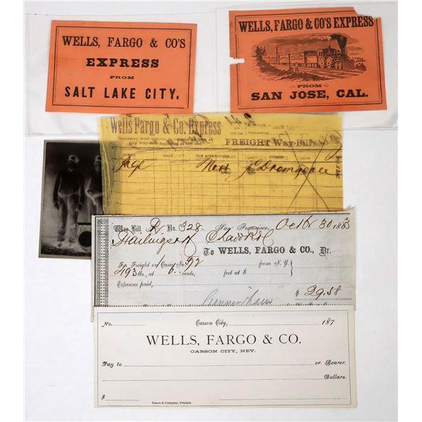 Wells Fargo Ephemera Group (5)  [118658]