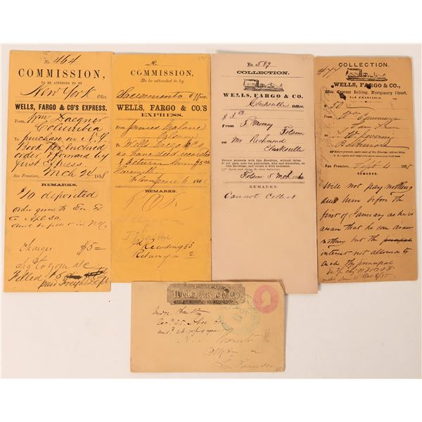 Great Group of Wells Fargo Collection Envelopes - Gold Rush  [123473]