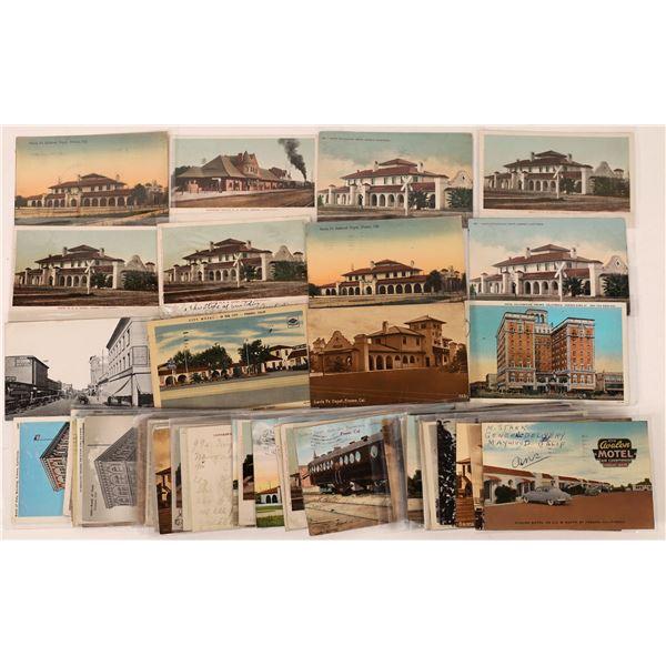 Fresno Depot, Hotel and Bank Postcards-65  [126486]