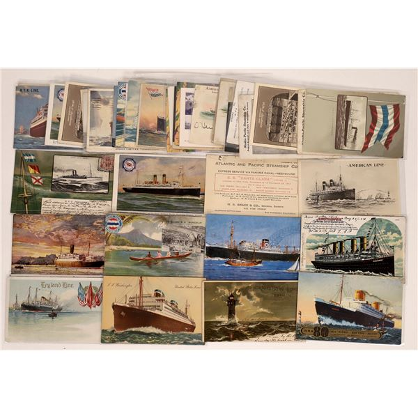 Shipping Line Advertising Postcards  [126528]