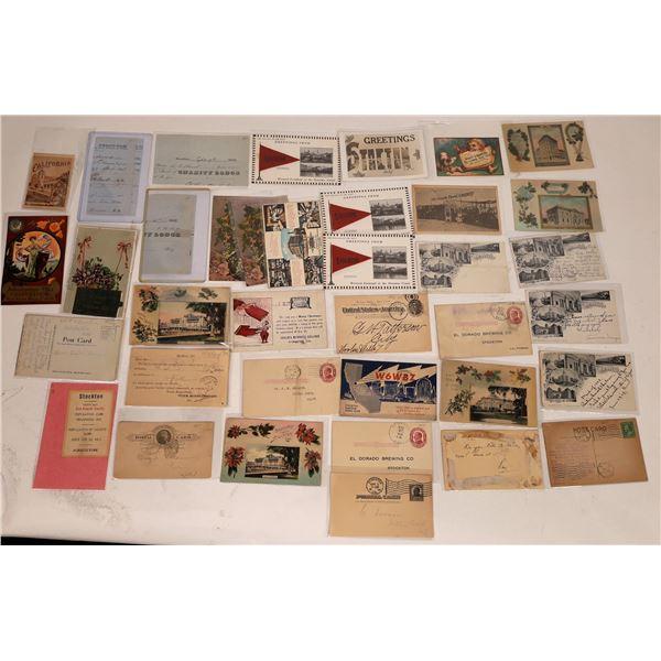 Stockton, Cal. Greeting RPCs Litho Postcards Ephemera (37)  [127344]