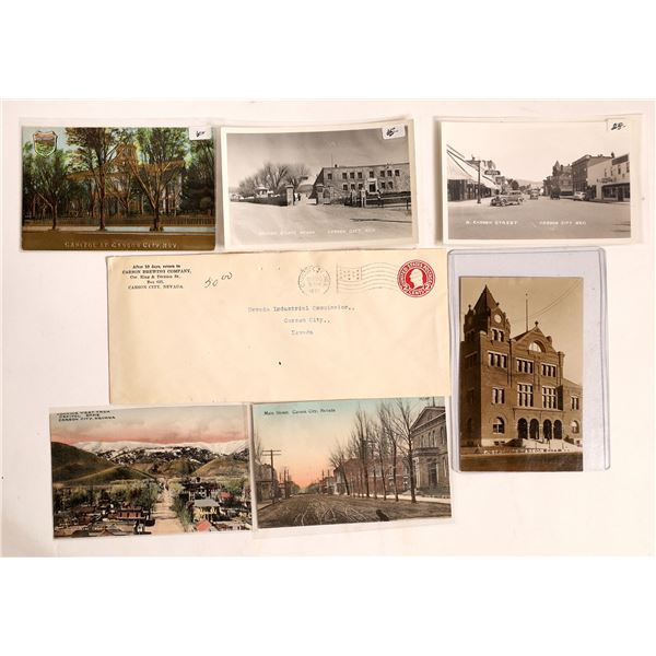 Carson City Real Photo Postcards and Postal Cover  [129323]