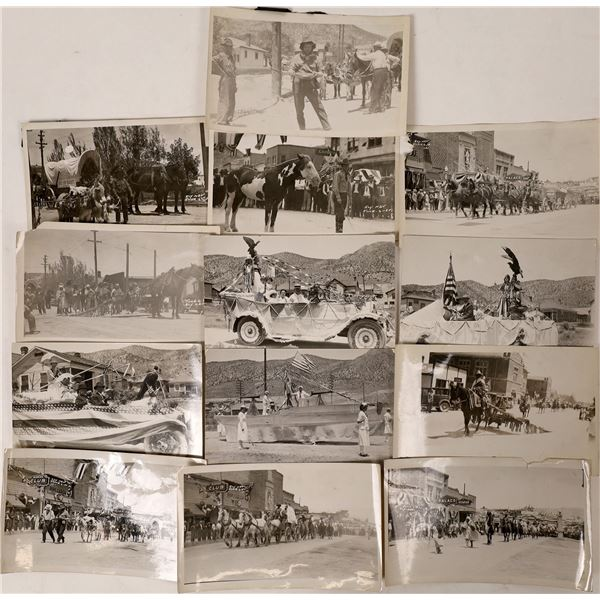 Ely Black & White RPC's  and Photo of a 1920 Parade  [130039]