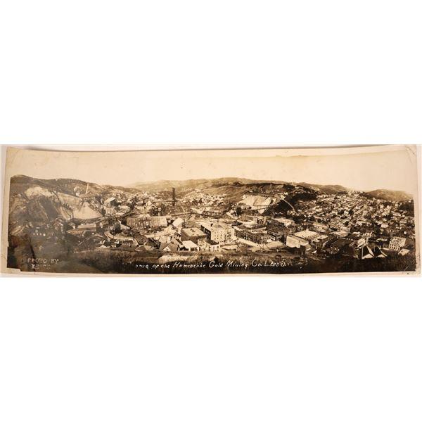 Birds-eye View Panoramic Real Photo Postcard of Lead, South Dakota  [134067]
