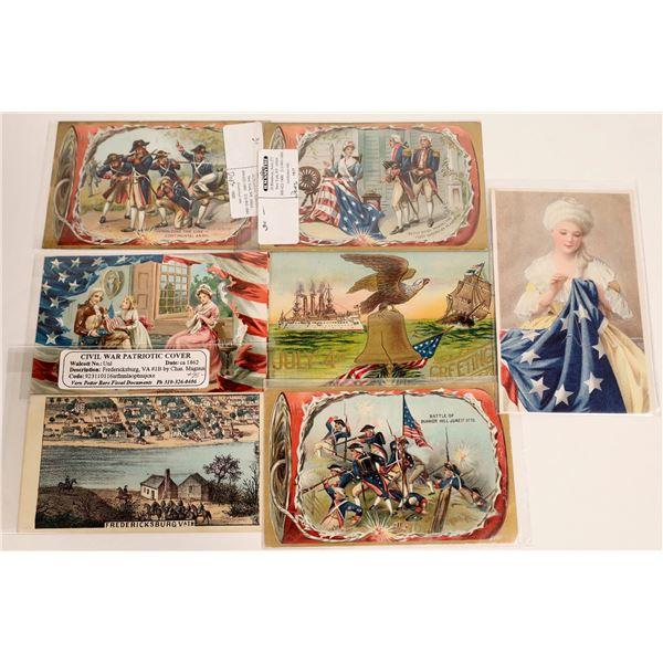 Civil War Postcards & Covers Including 4 Tucks (7)  [111885]