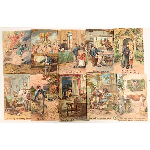 Ten Commandments in Post Cards  [132952]