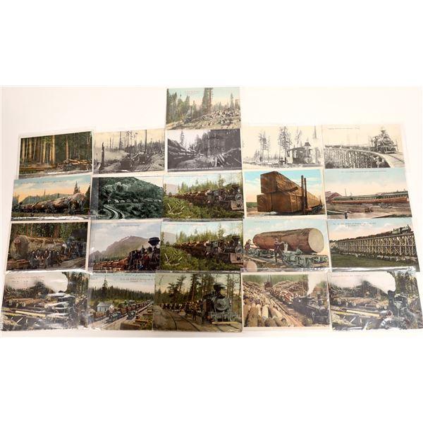 Logging Train Postcards (21)  [132353]