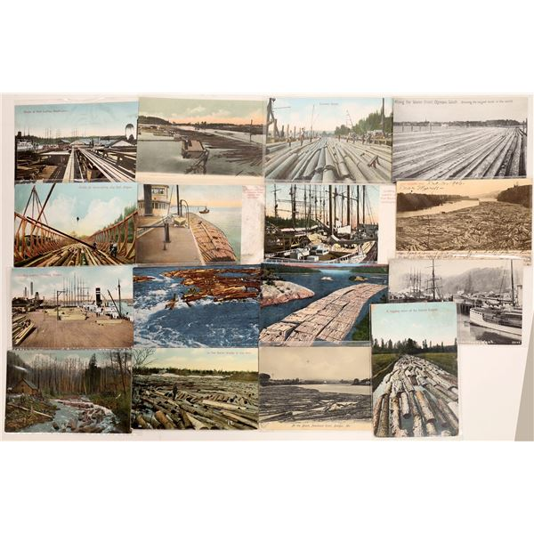 Lumber Docks and Booms Postcards (16)  [132358]