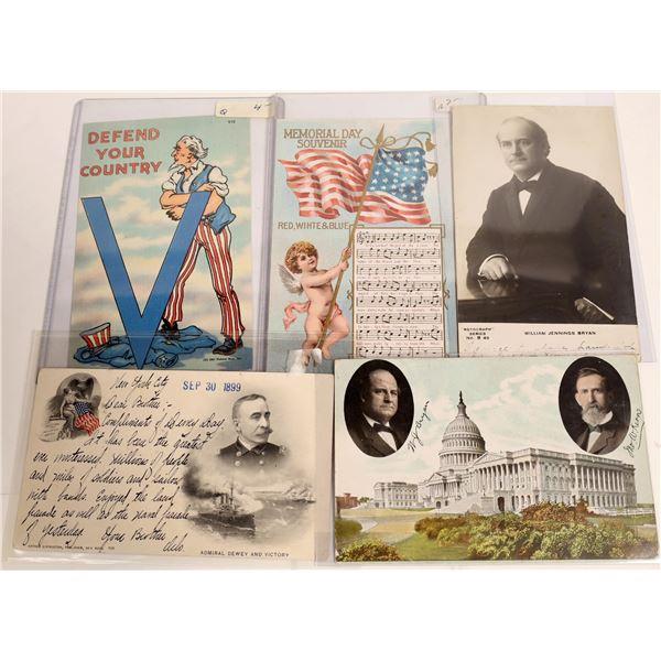 Group of Patriotic Postcards (5)  [111886]
