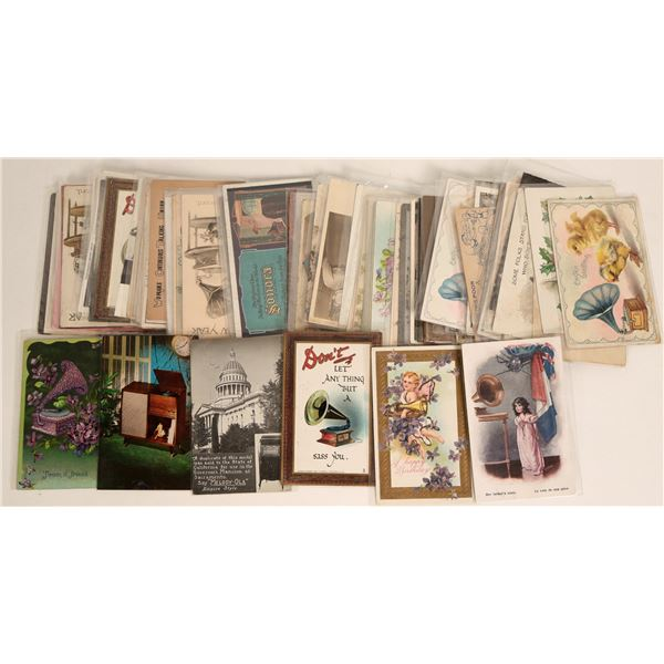 Phonograph-Related Post Card Collection  [125841]