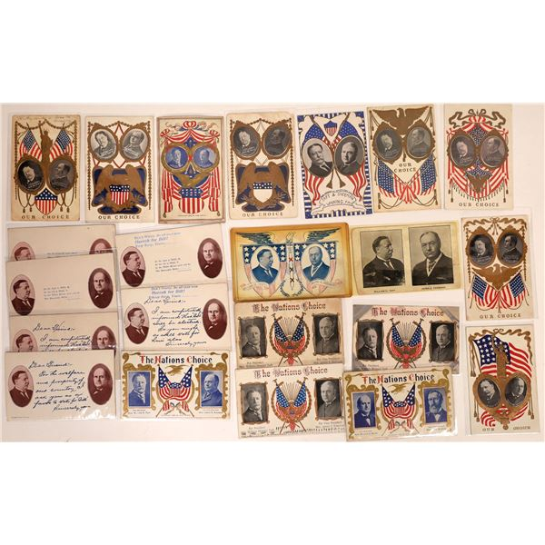 Taft-Sherman Bryan-Kern Election Postcards (22)  [127326]