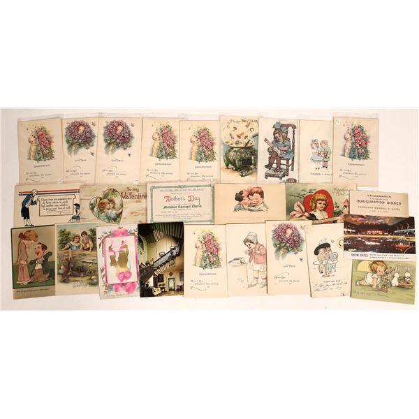 Victorian Style Announcement Postcards  [132064]